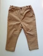 Brązowe spodnie Reserved rozmiar 86