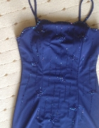 sukienka granatowa wąskac