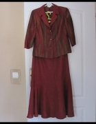 komplet spódnica marynarka i bluzka rozmiar L