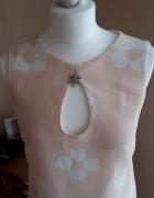 Dziewczęca jasno różowa sukienka rozmiar 38 odkryte plecy
