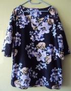 asymetryczna bluzka w kwiatuszki...