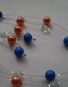 Piękny komplet perłowo kryształowy