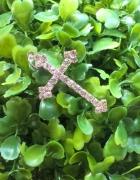 Zawieszka Krzyżyk Cyrkonie