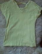 cytrynowa bluzeczka z koronką Reserved