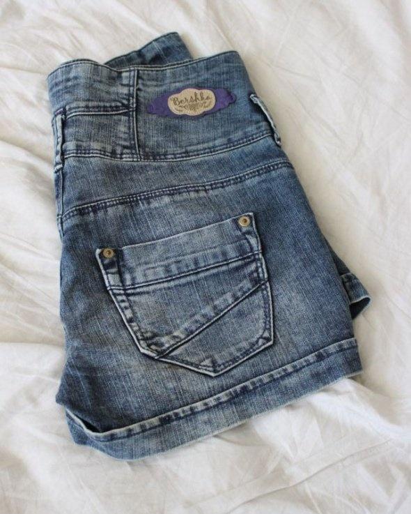 spodenki jeansowe bershka s...