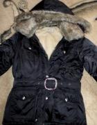 Cudna zimowa kurtka Parka z futerkiem