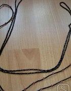 Koraliki na żyłce 2 sznurki czarne i czarno fiolet