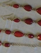 Bransoletka i kolczyki w kolorze rdzy