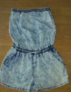 Kombinezon marmurkowy jeansowy