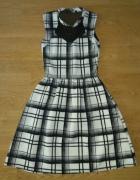 Sukienka siateczka pikowana kratka