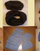 Zestawy różne czapka szal rękawiczki zarękawki