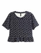 Czarna bluzeczka kropki H&M 38 M