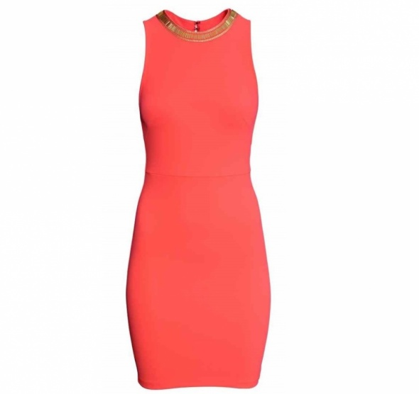 NOWA piękna koralowa sukienka H&M M 38