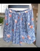 Zara spódnica mini wzory szyfonowa kwiaty floral zwiewna...