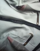 Marynarka narzuta elegancka czarno biała zamki s