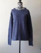 Idealny świecący granatowy sweter L...