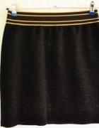 Czarna spódnica złota nitka Mango XL