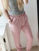 Primark spodnie pudrowy róż kieszenie S