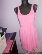Różowa sukienka H&M xs
