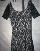śliczna tunika sukienka z koronką S