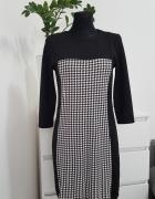 bawełniana sukienka czarno biała
