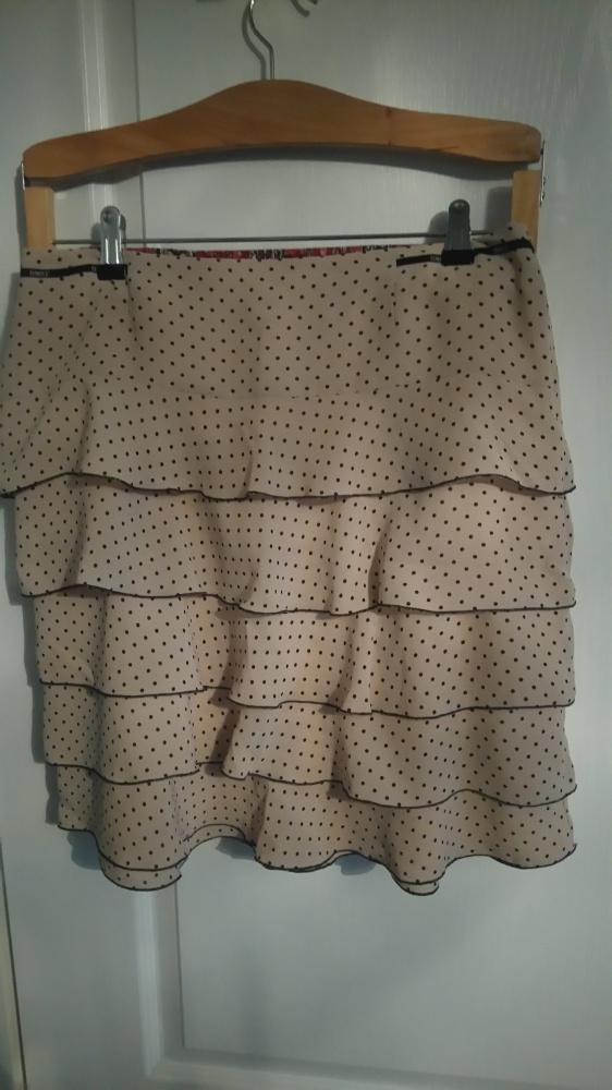 Elegancka spódnica z falbankami...