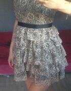 Koronkowa złota sukienka Danity