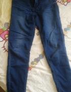 Ciemne spodnie Cropp wysoki stan XS...
