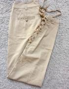 Kremowe spodnie