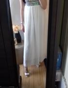 Suknia maxi koronka długa suknia szyfon cekiny...