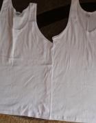 2 białe bawełniane podkoszulki XXL