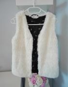 Kamizelka futrzana biała blogerska XS H&M...