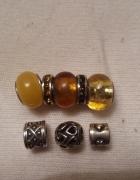 Beads srebrne