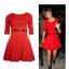 Sukienka rozkloszowana Atmosphere czerwień XS S