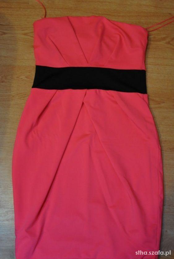 Sukienka tally weijl 36 S neon róż