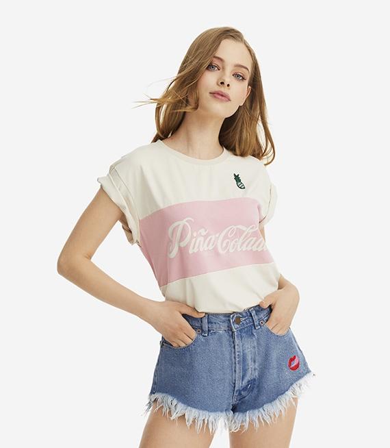 PLNY LALA nowa koszulka Pina Colada Classic Layer Cream