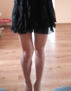 czarna spódnica z falbanek S