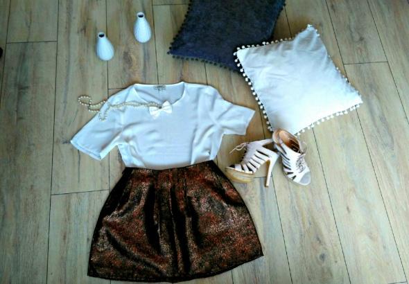 Eleganckie Błyszcząca spódniczka