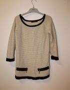 Reserved elegancki cienki sweterek z zamkami...
