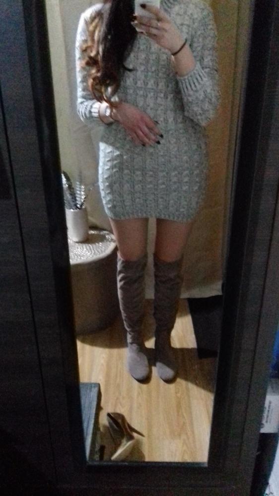 Sukienka dzianinowa sweterkowa długi sweter golf