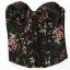 KappAhl gorset w drobne kwiatki floral print gotycki japan style