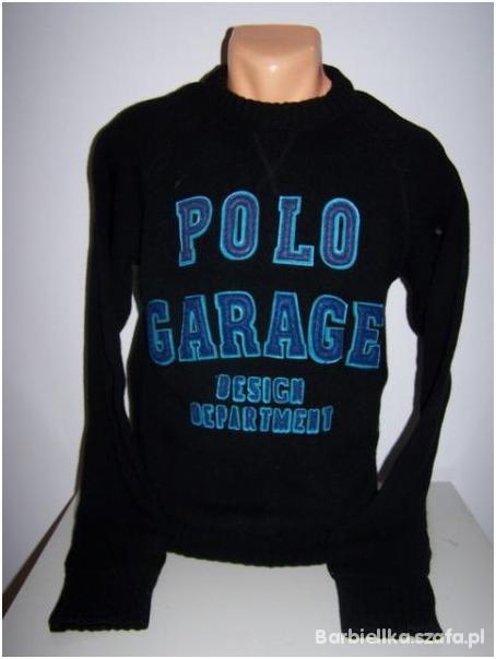 Sweter Polo Garage czarny...