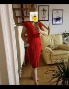 Masai czerwona sukienka z kokardkami S