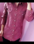 Koszula jeansowa H&M bordowa rozmiar XS...