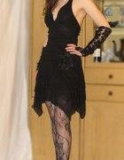 sukienka czarna wieczorowa sylwester studniówka