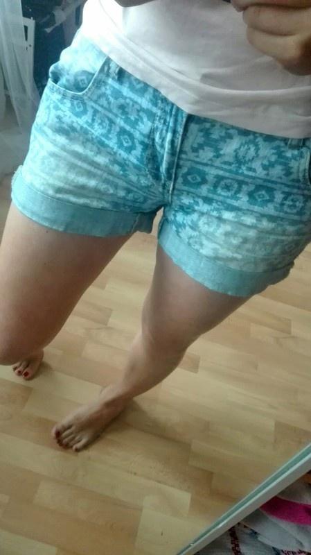 Jeansowe szorty wory aztec