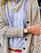 Klasyczny Damski Zegarek Geneva Wellington Brąz...
