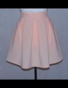 Łososiowa spódnica spódniczka kontrafałdy 36 S