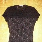 czarna koronkowa bluzeczka