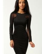 Piękna nowa seksi sukienka z siateczką czarna M L